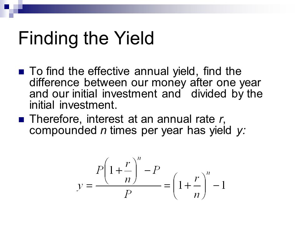 Finding the Yield