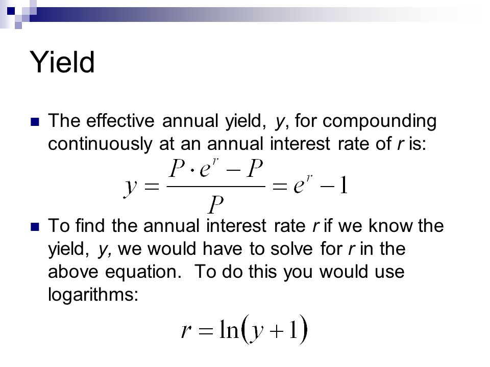 annual interest rate formula