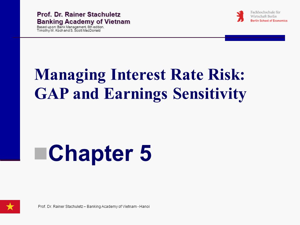 Chapter 5 Managing Interest Rate Risk: GAP and Earnings Sensitivity