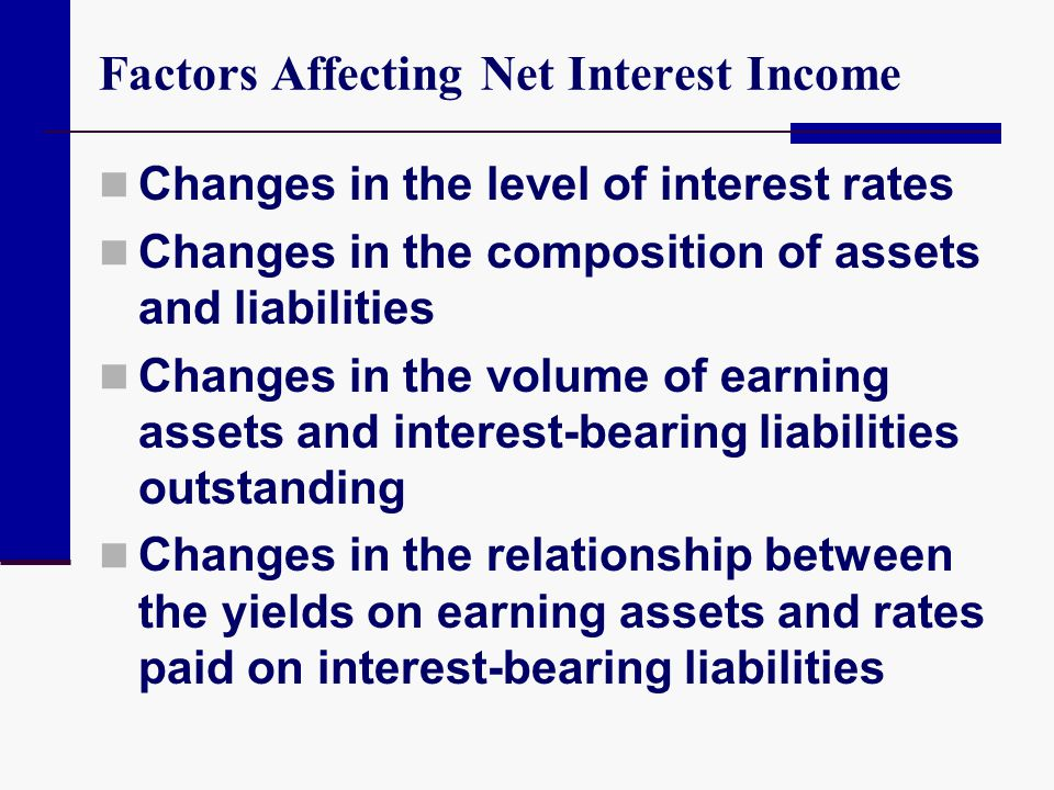 Factors Affecting Net Interest Income