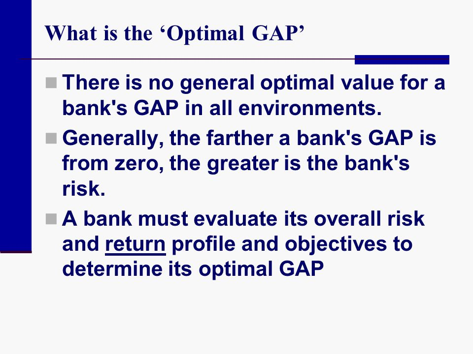 What is the 'Optimal GAP'