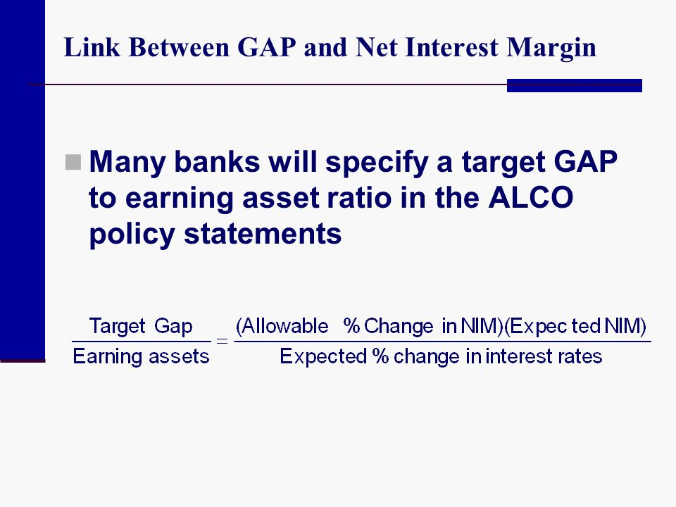 Link Between GAP and Net Interest Margin