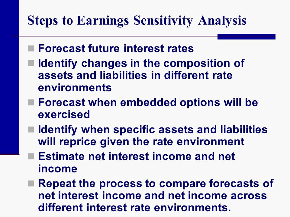 Steps to Earnings Sensitivity Analysis