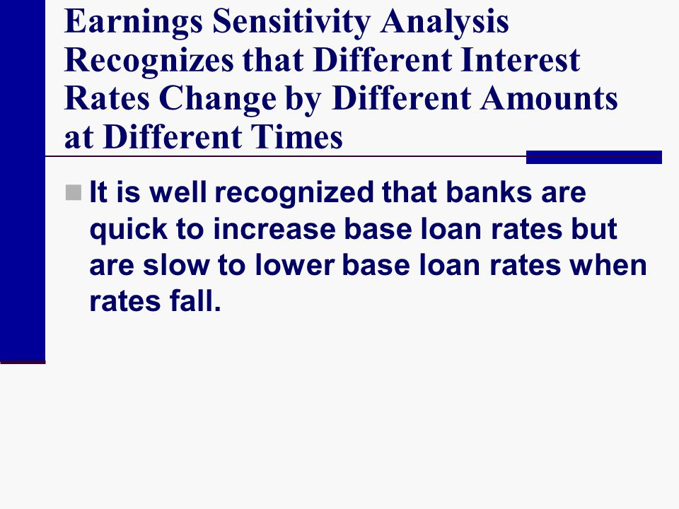Earnings Sensitivity Analysis Recognizes that Different Interest Rates Change by Different Amounts at Different Times