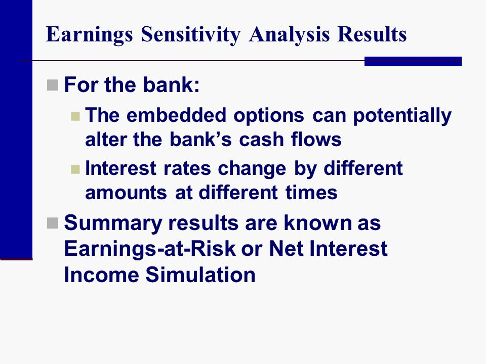 Earnings Sensitivity Analysis Results