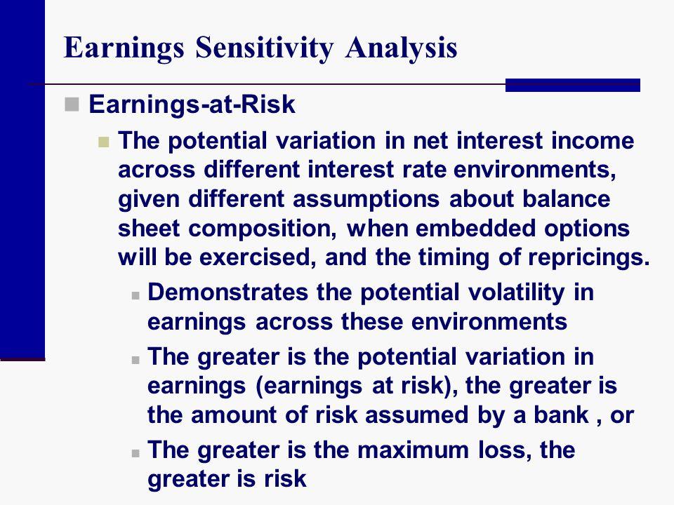Earnings Sensitivity Analysis