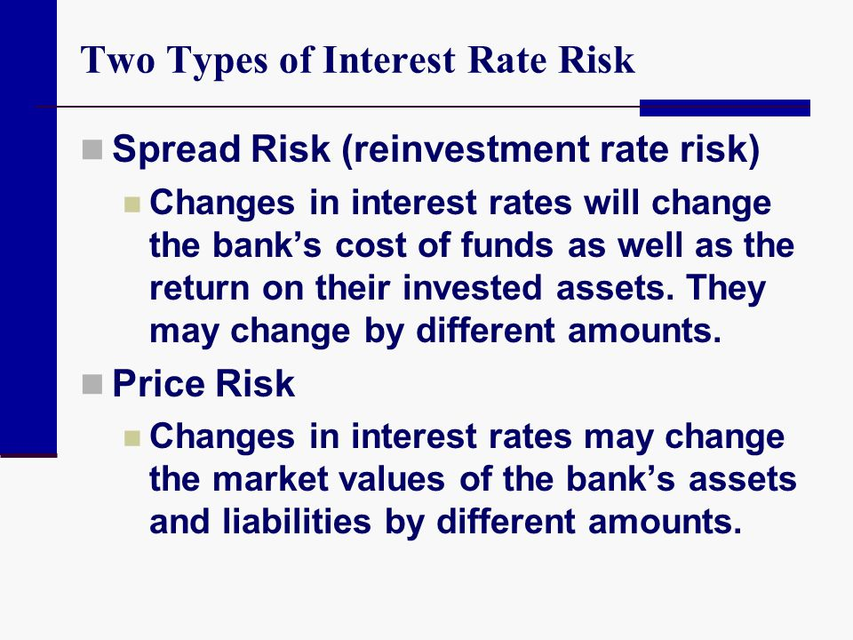 Two Types of Interest Rate Risk