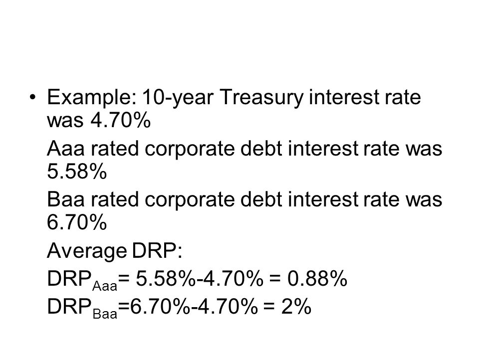 Example: 10-year Treasury interest rate was 4.70%