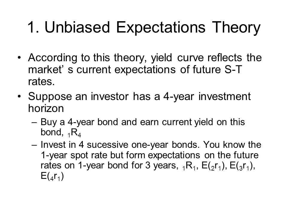 1. Unbiased Expectations Theory
