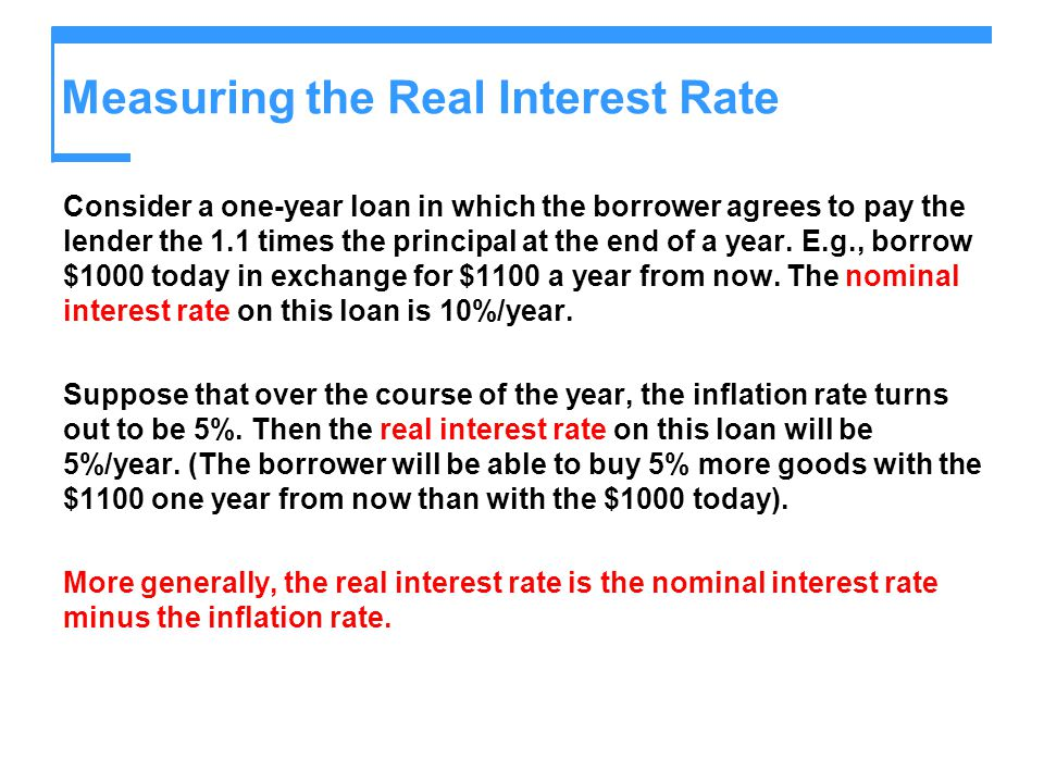 Measuring the Real Interest Rate