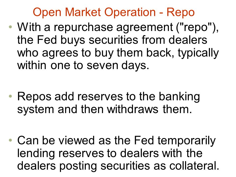 Open Market Operation - Repo