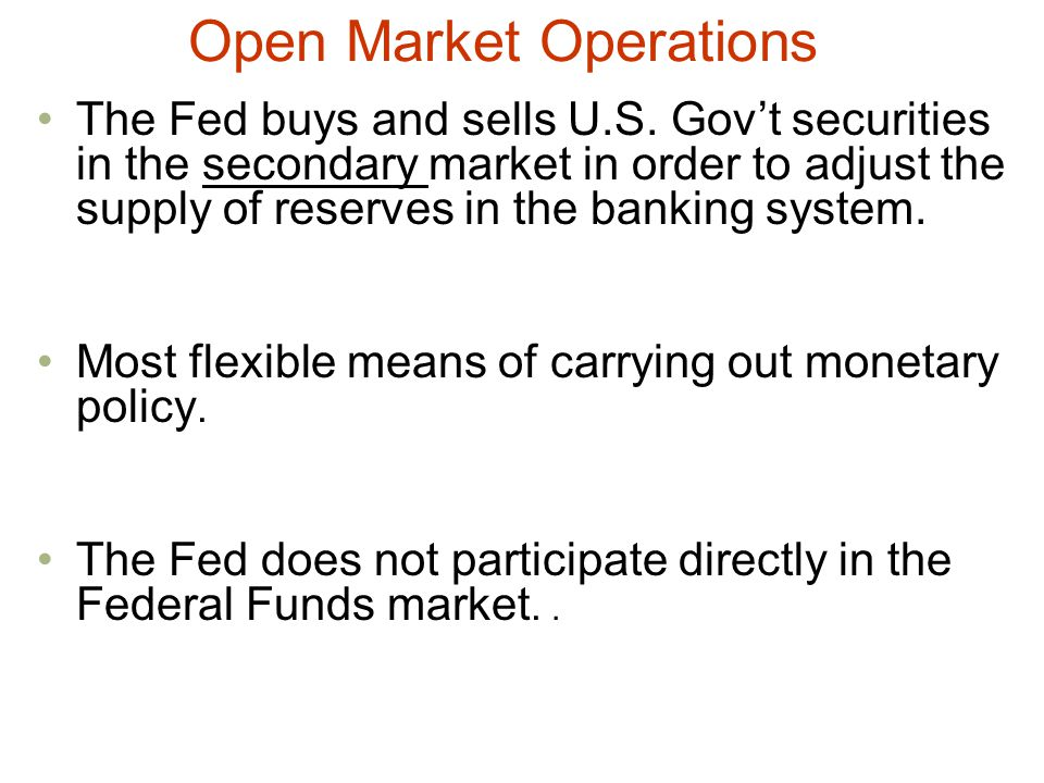 Open Market Operations