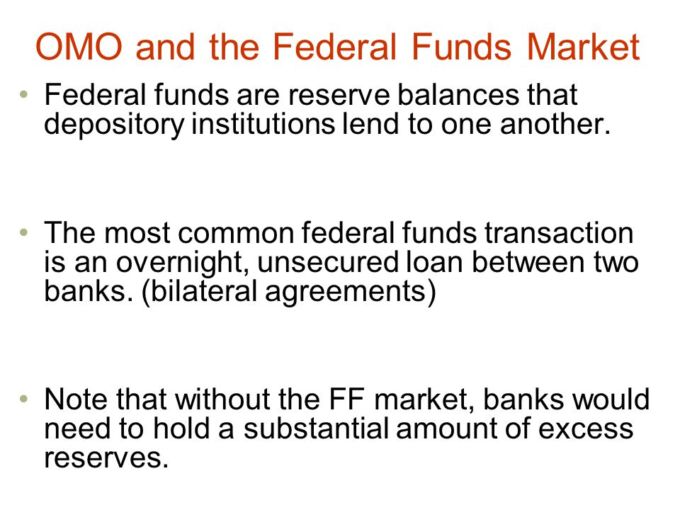 OMO and the Federal Funds Market