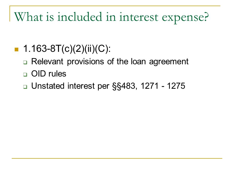 What is included in interest expense