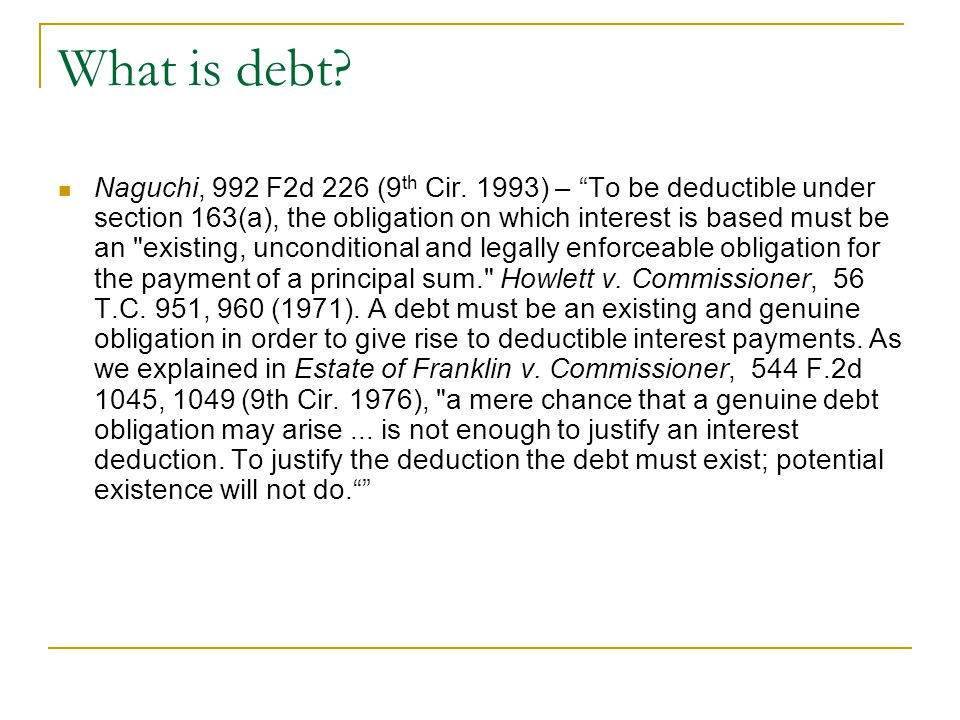 What is debt