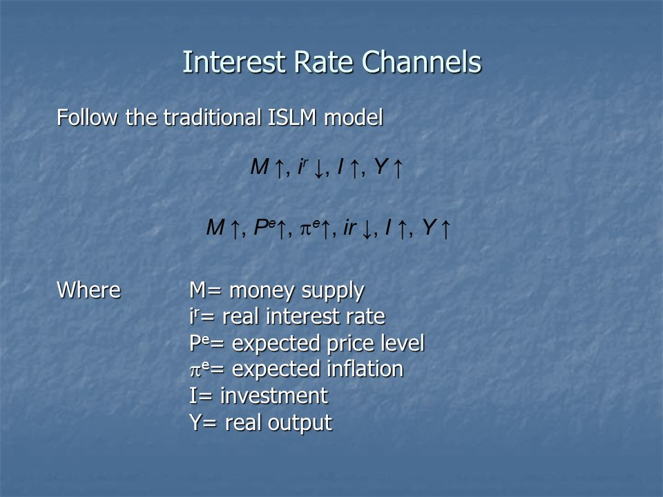 Interest Rate Channels