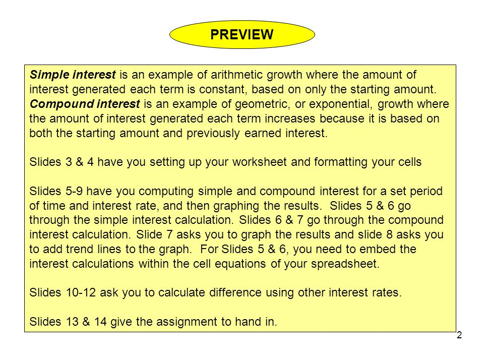 Simple Versus Compound Interest ppt download – Simple and Compound Interest Worksheet