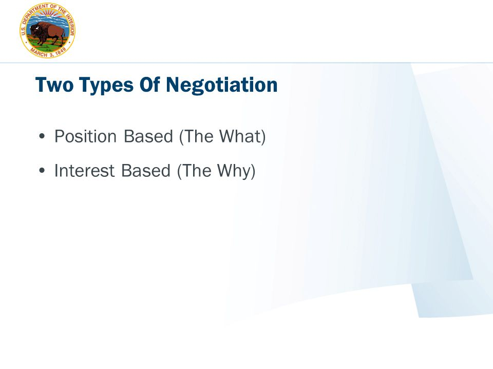 Two Types Of Negotiation