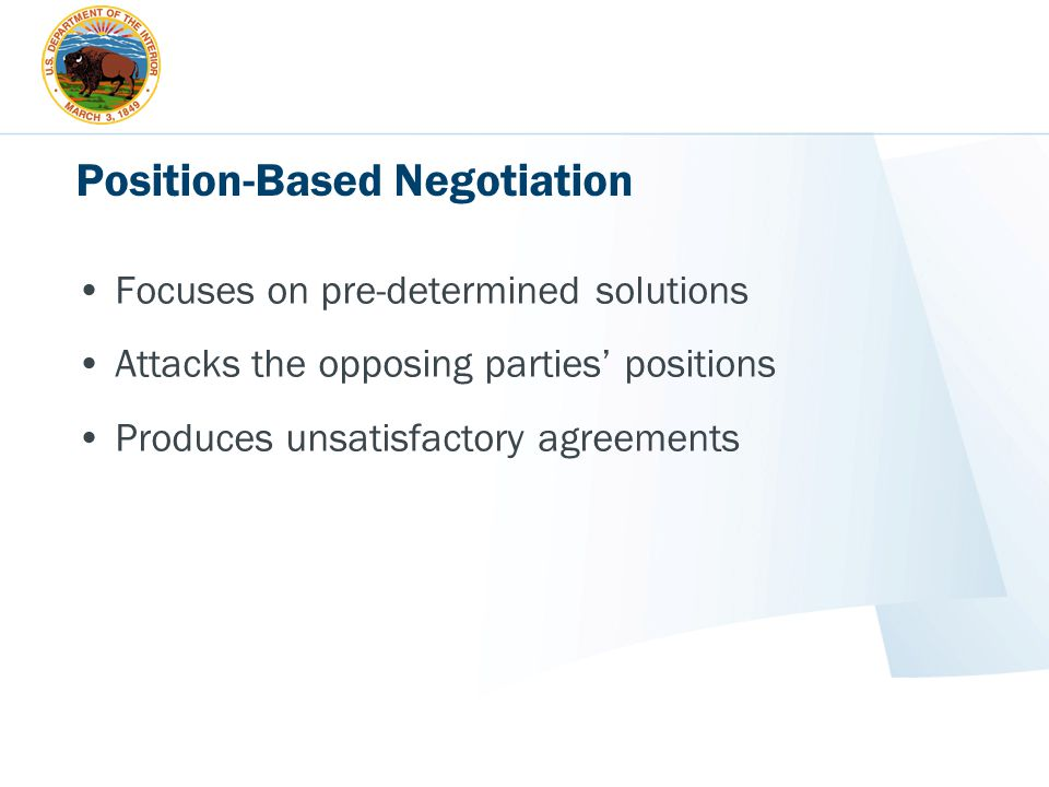 Position-Based Negotiation