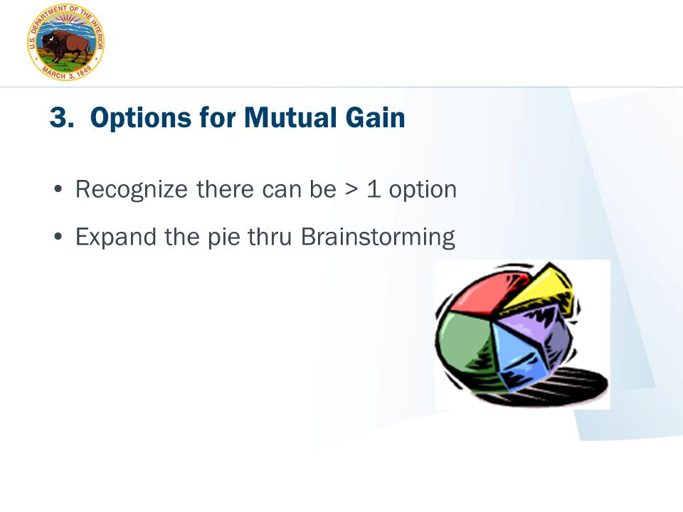 3. Options for Mutual Gain