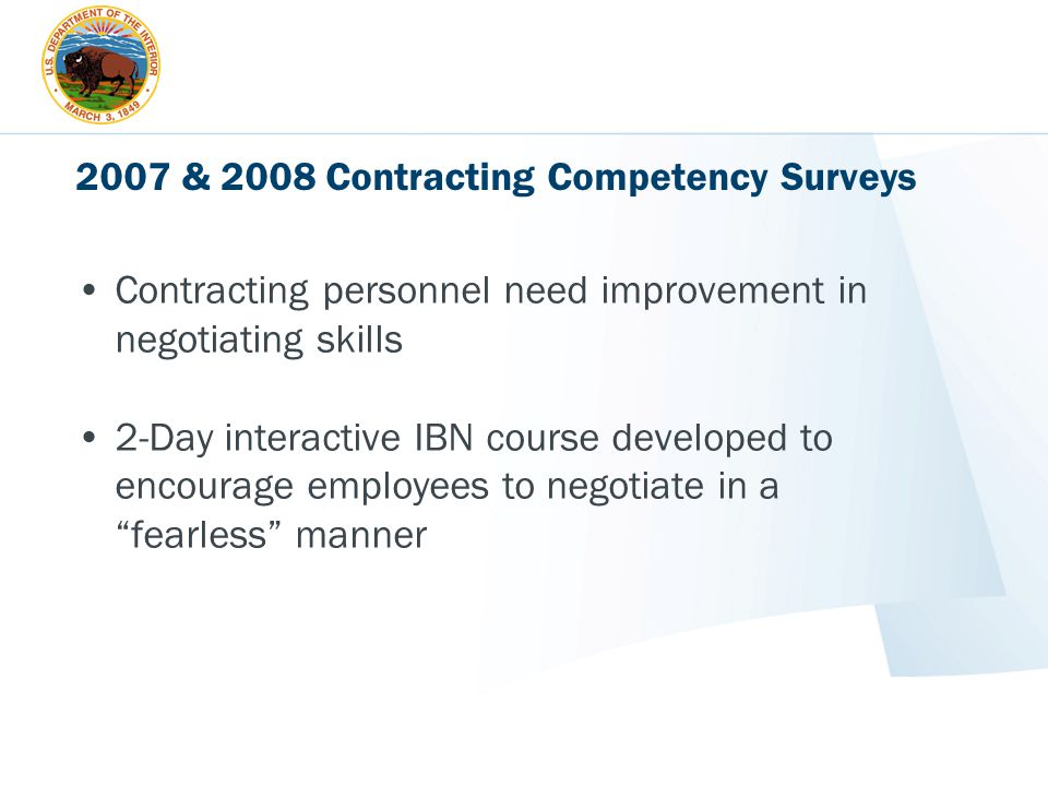 2007 & 2008 Contracting Competency Surveys