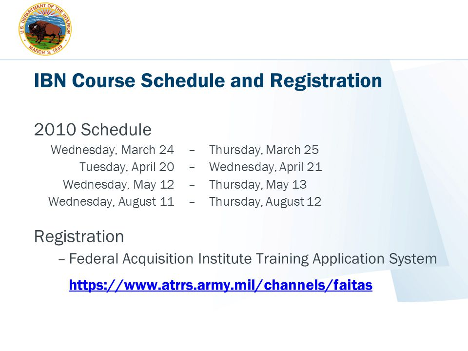IBN Course Schedule and Registration
