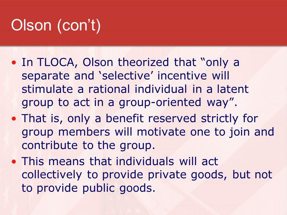 Olson (con't)