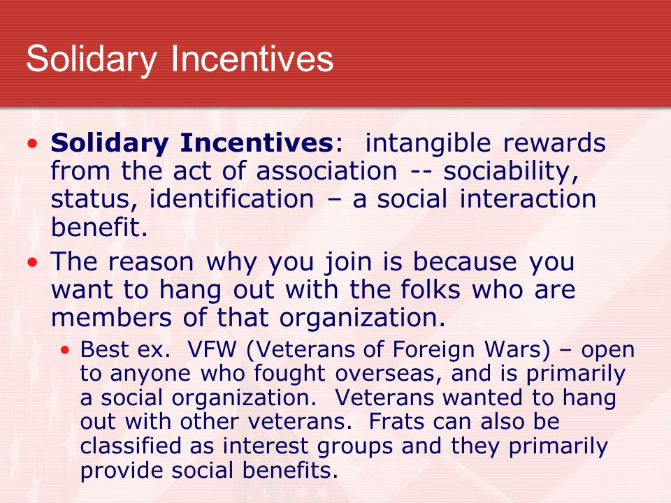 Solidary Incentives