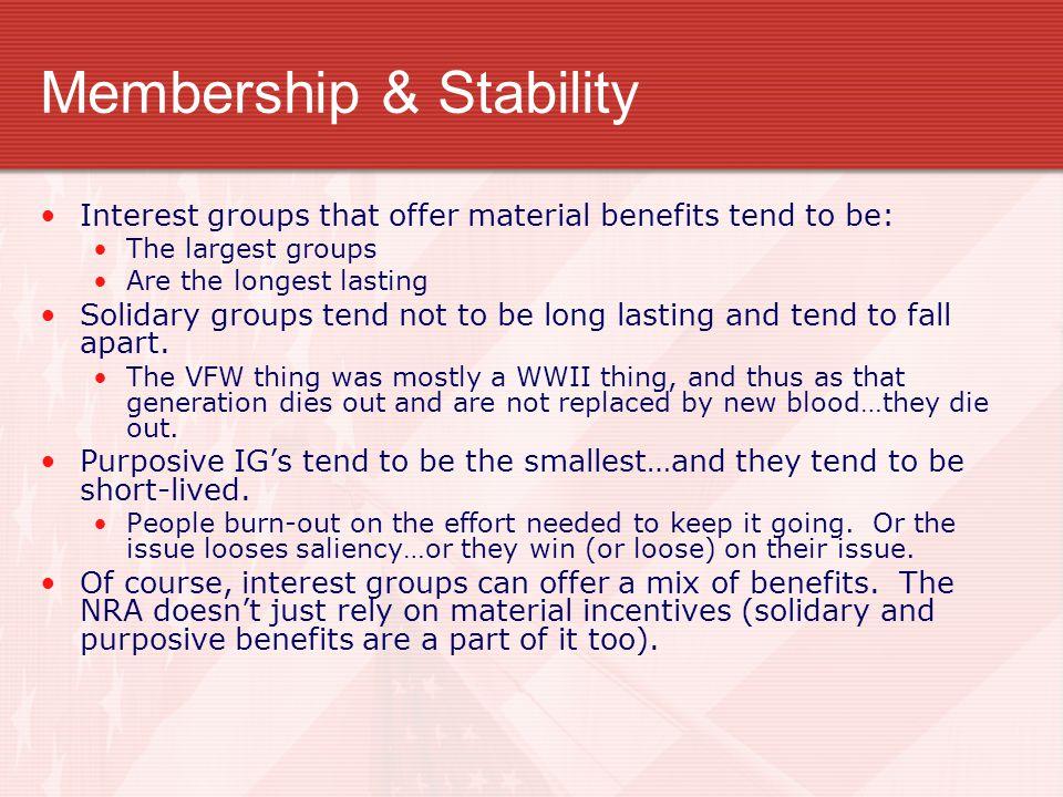 Membership & Stability