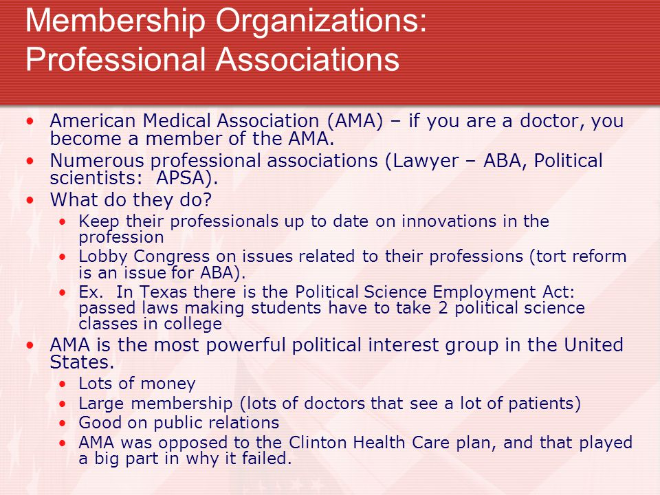 Membership Organizations: Professional Associations