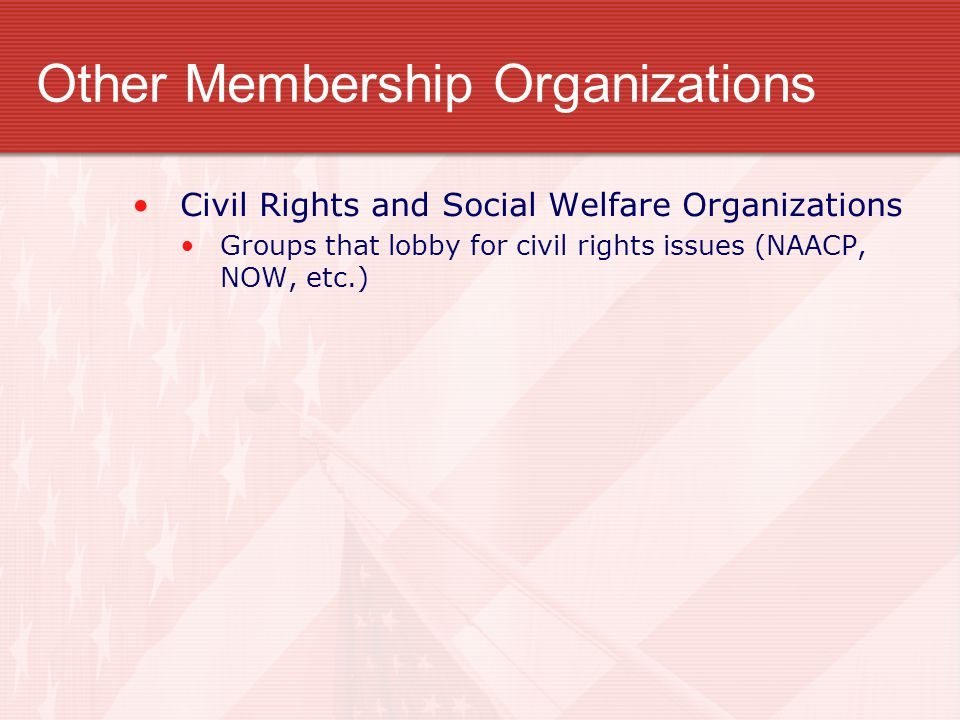 Other Membership Organizations