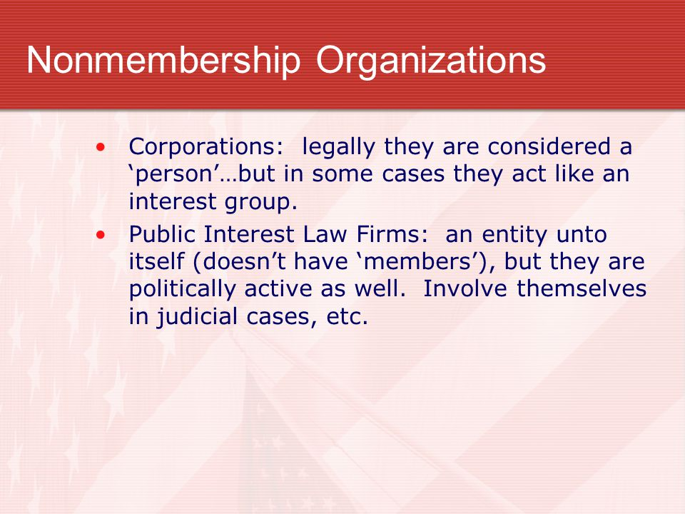Nonmembership Organizations