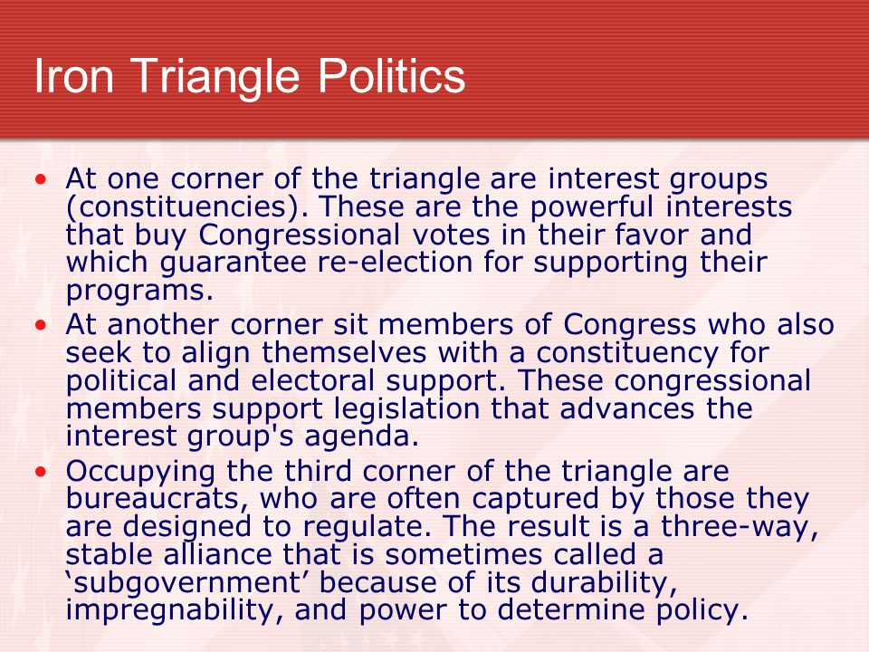 Iron Triangle Politics