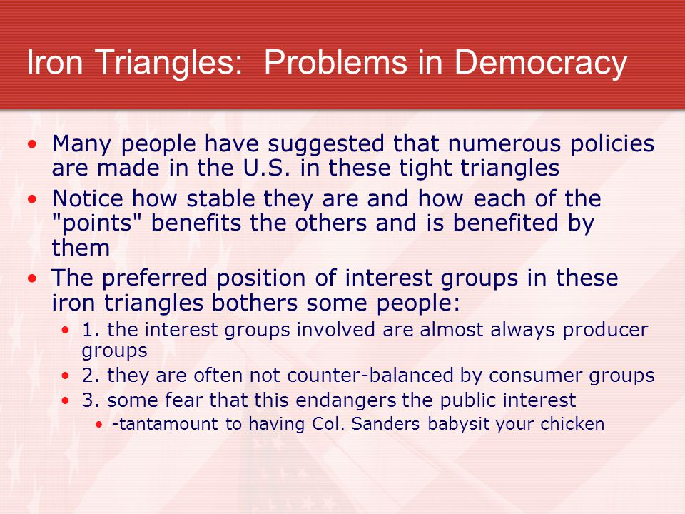 Iron Triangles: Problems in Democracy