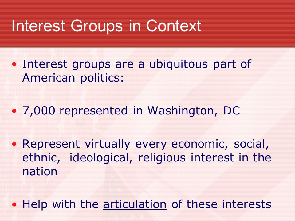 Interest Groups in Context