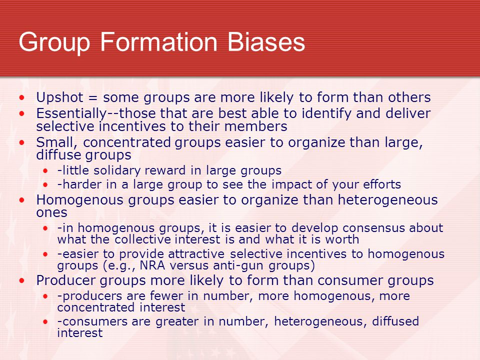 Group Formation Biases
