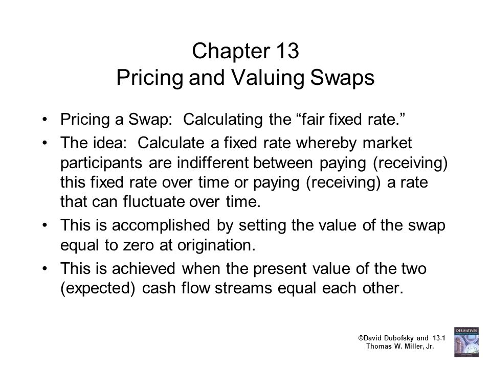 Chapter 13 Pricing and Valuing Swaps