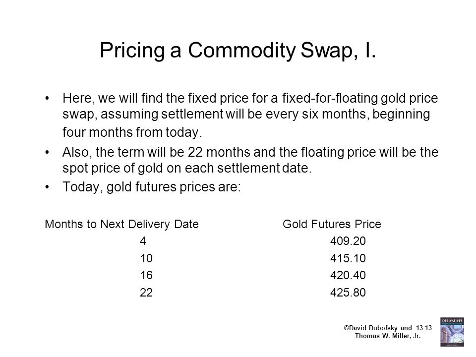 Pricing a Commodity Swap, I.