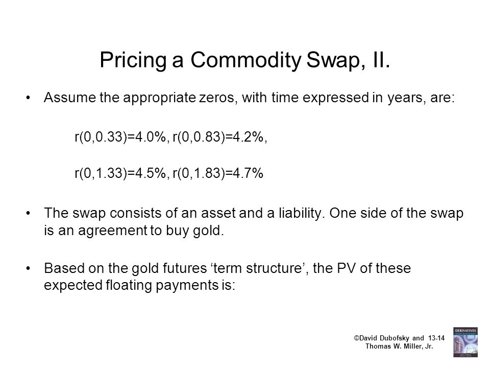 Pricing a Commodity Swap, II.