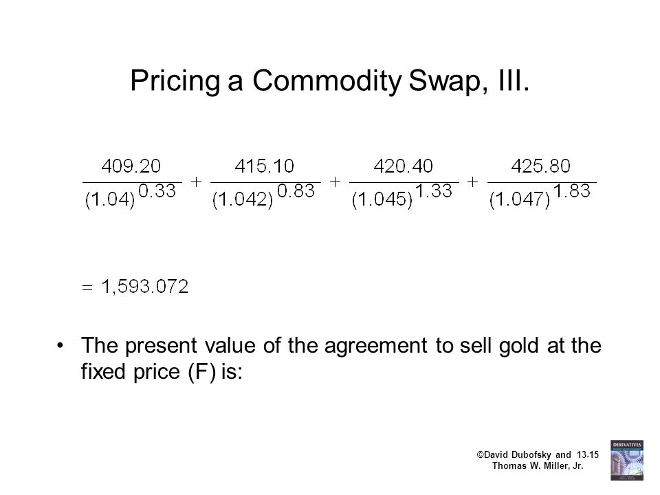 Pricing a Commodity Swap, III.