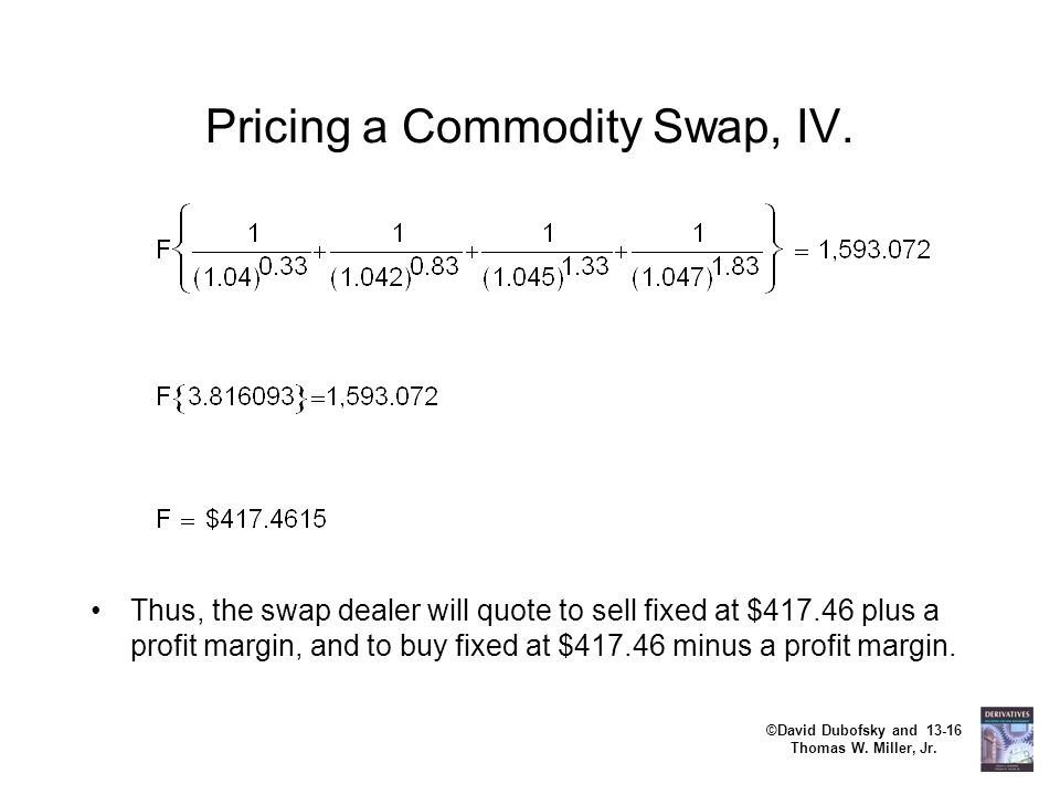 Pricing a Commodity Swap, IV.