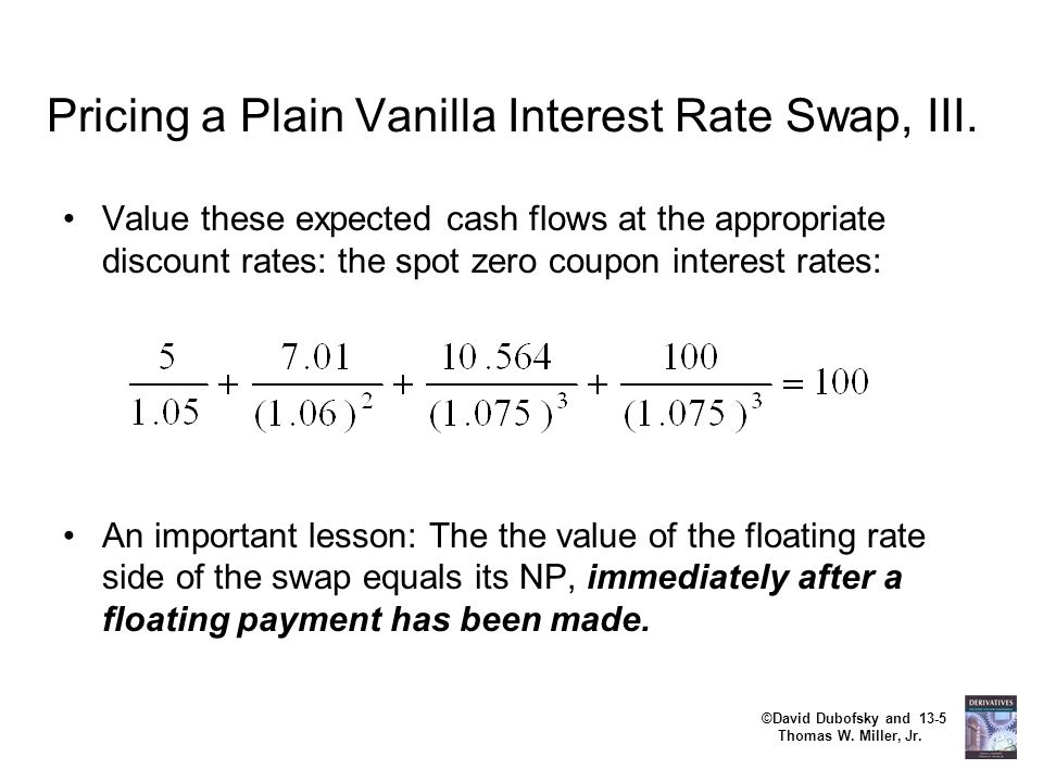 Pricing a Plain Vanilla Interest Rate Swap, III.