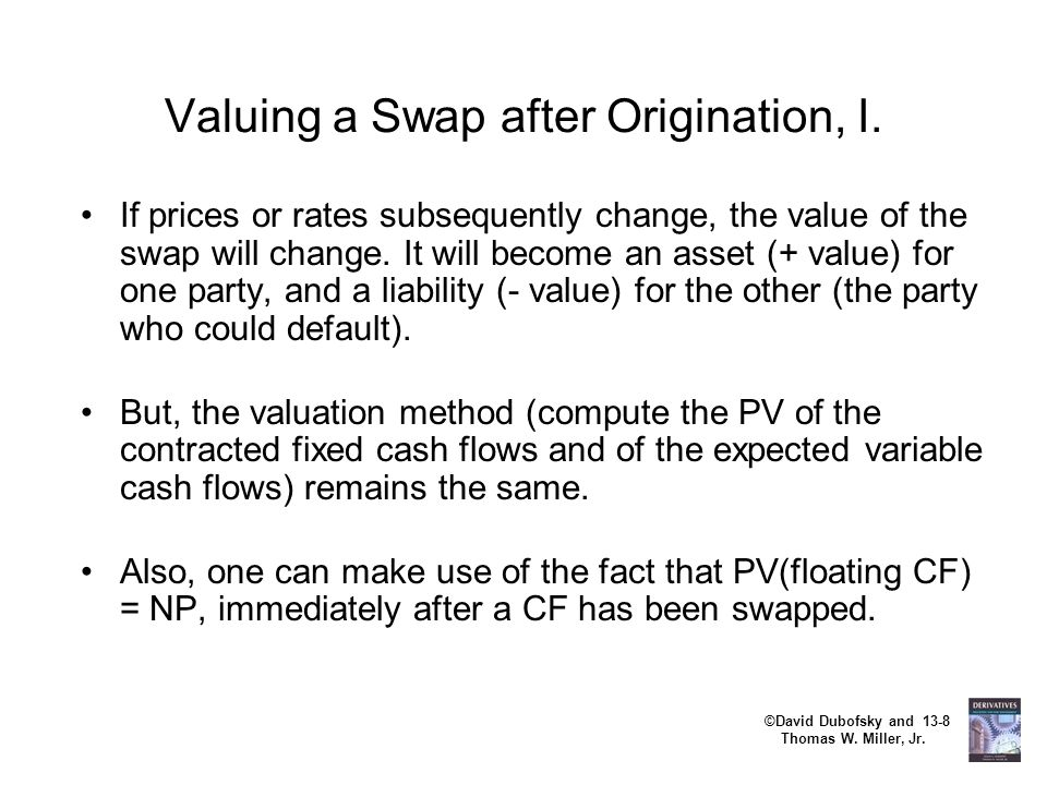 Valuing a Swap after Origination, I.