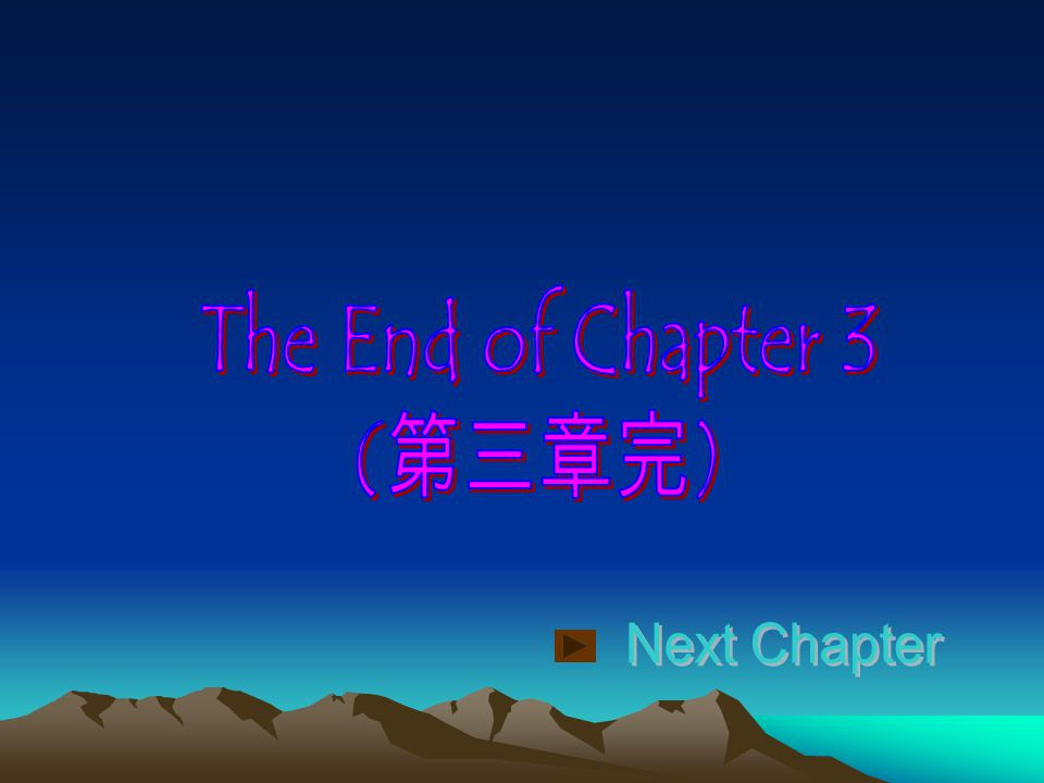 The End of Chapter 3 (第三章完) Next Chapter
