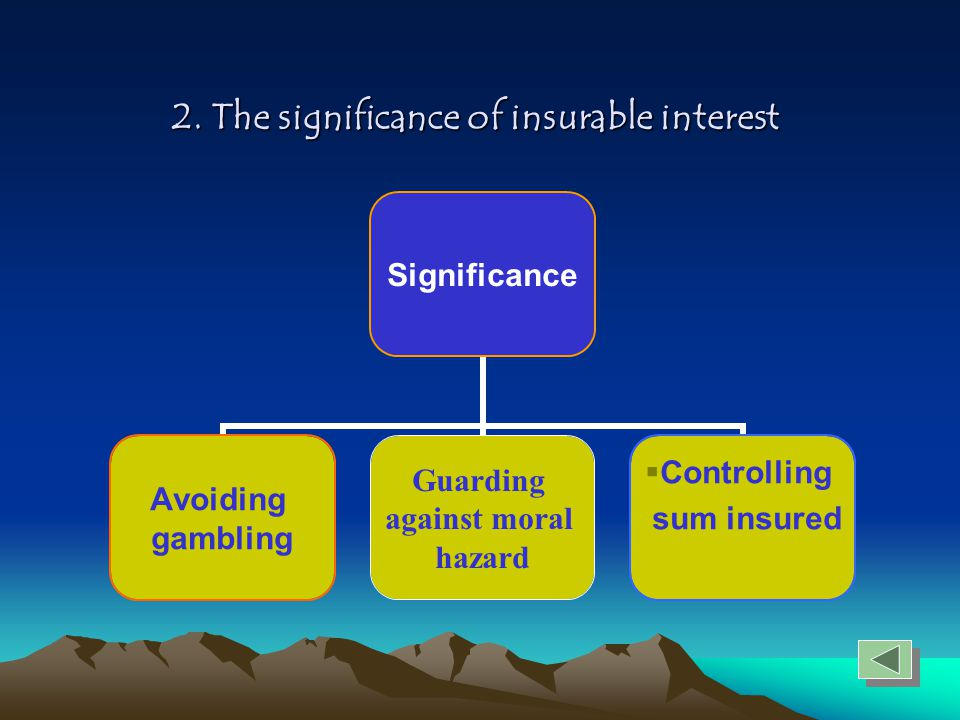 2. The significance of insurable interest