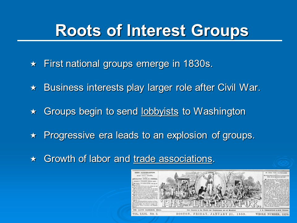 Roots of Interest Groups