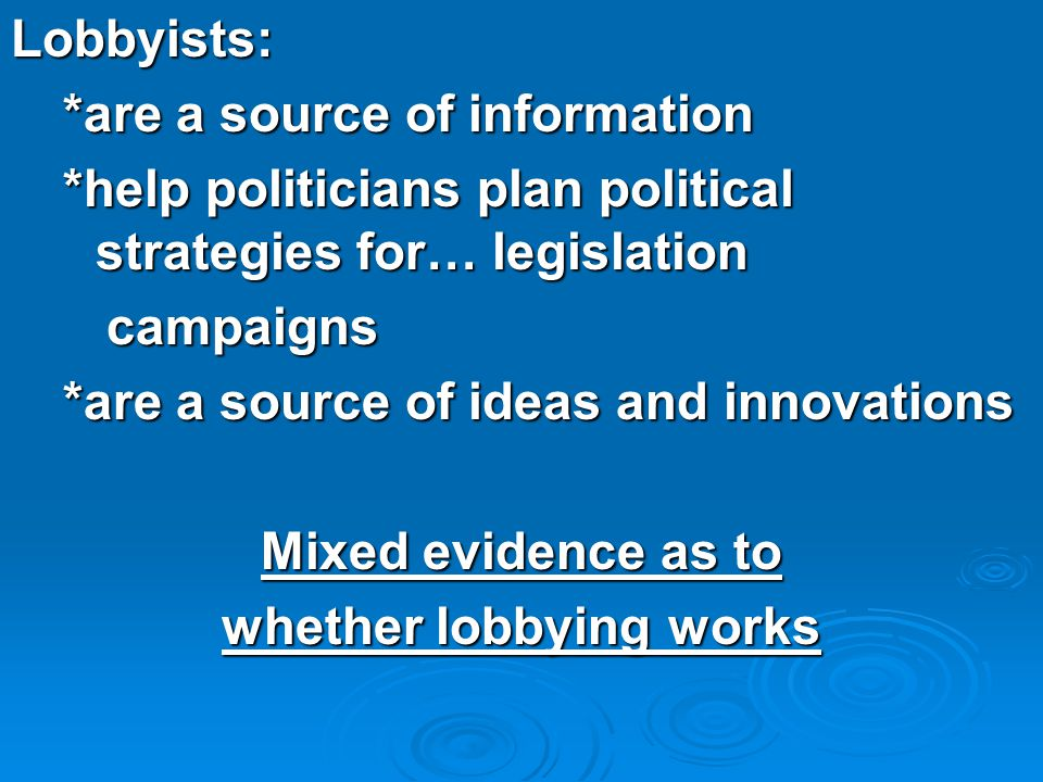 whether lobbying works