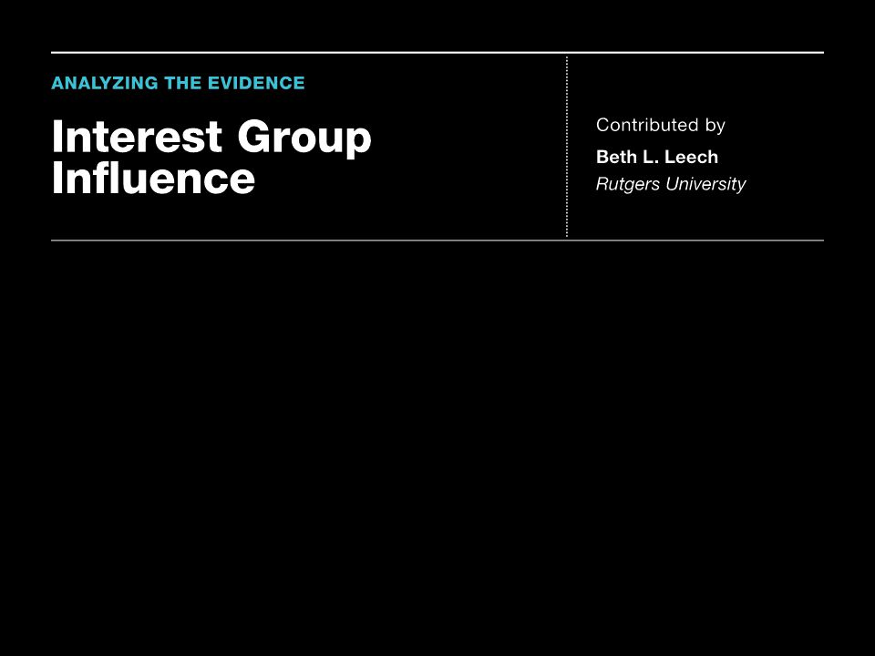 It is generally accepted among those who study interest groups that business and economic interests predominate. Economic interests are more likely to form organized groups, are more likely to be active, and on average spend more money and more time on political issues than are noneconomic interests like citizen groups or public interest groups. When we look at interest groups' involvement in the policy-making process, however, the sheer number of groups or dollars may not directly equal the amount of influence that those groups have. While numbers and dollars are important indicators of which interests are represented, it would be preferable to try to measure which groups actually were influential in politics. To address this question, the political scientist Frank Baumgartner and his colleagues interviewed 315 lobbyists and government officials about 98 randomly selected policy issues. Citizen groups were more likely to be mentioned as being important in the debates than any other type of group, despite the fact that they spent less and they made up a smaller part of the overall group population.