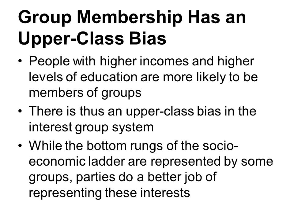 Group Membership Has an Upper-Class Bias
