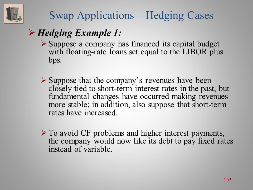Swap Applications—Hedging Cases